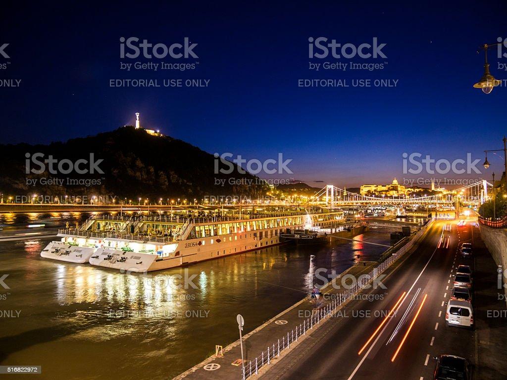 Danube River in Budapest, Hungary stock photo