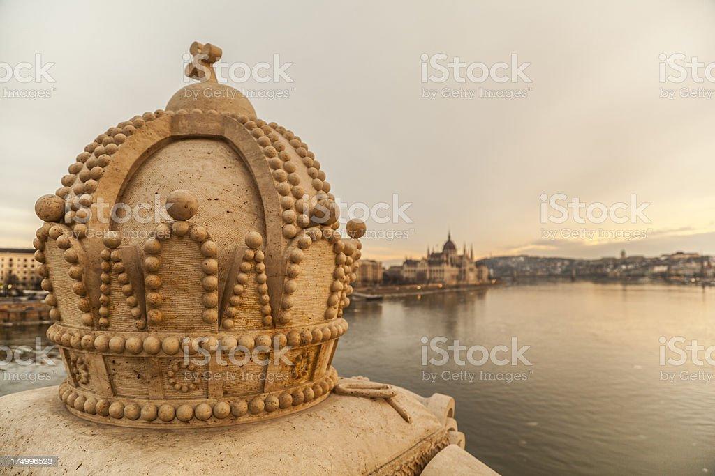 Danube river in Budapest stock photo