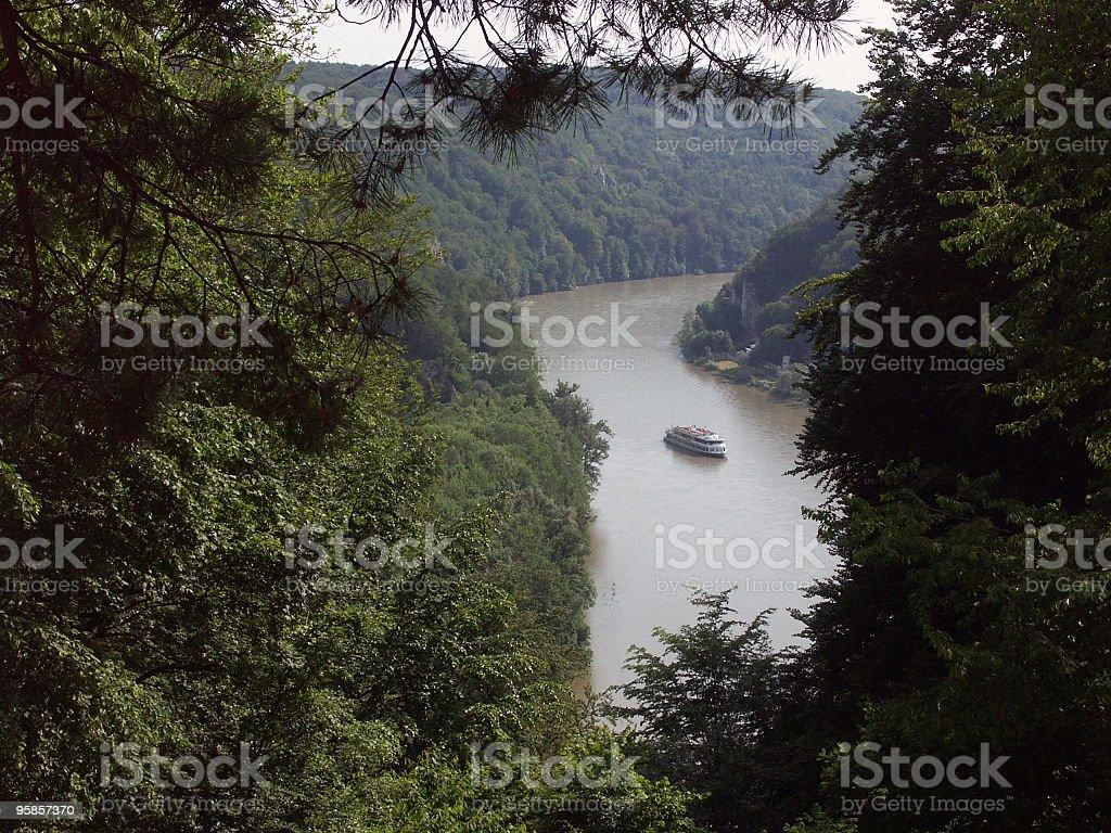 Danube river in Germany royalty-free stock photo