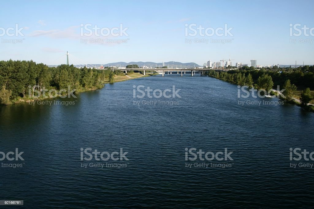 Danube River in Vienna royalty-free stock photo