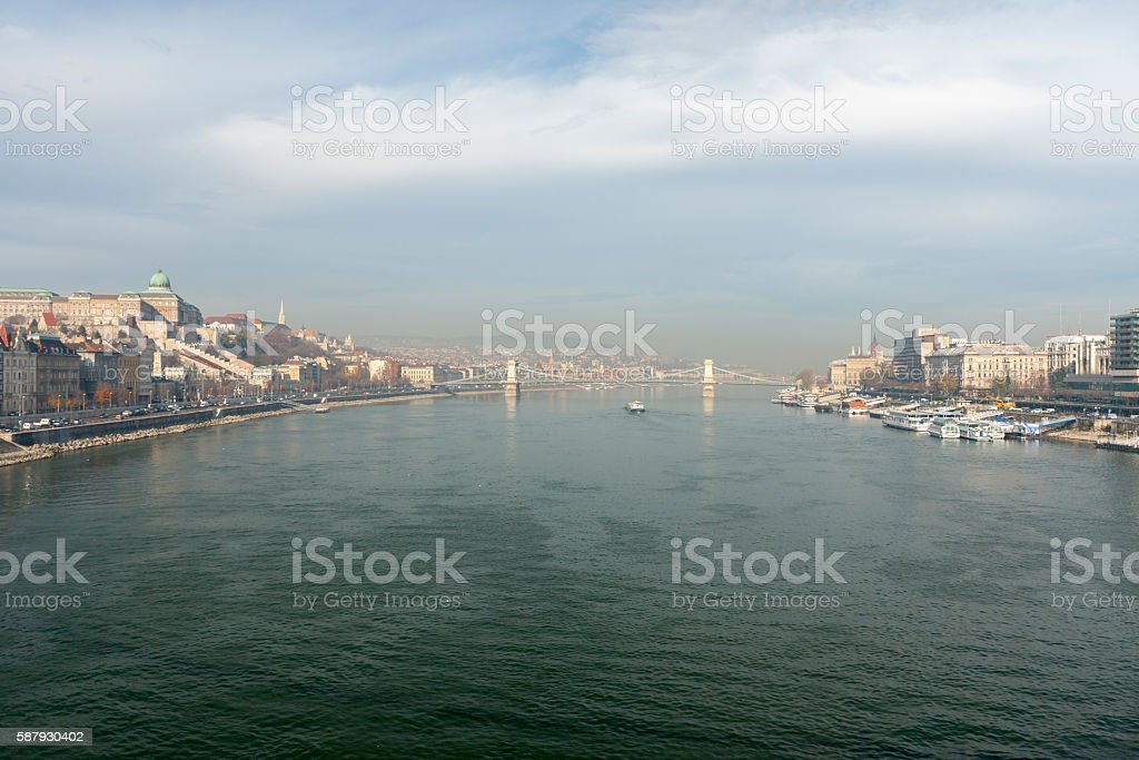 Danube River stock photo