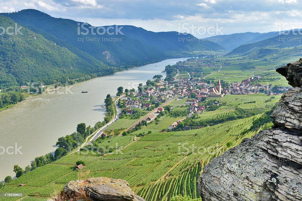 Danube Wachau stock photo