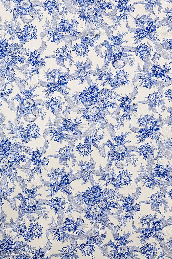 Danube Wide Antique Floral Fabric royalty-free stock photo