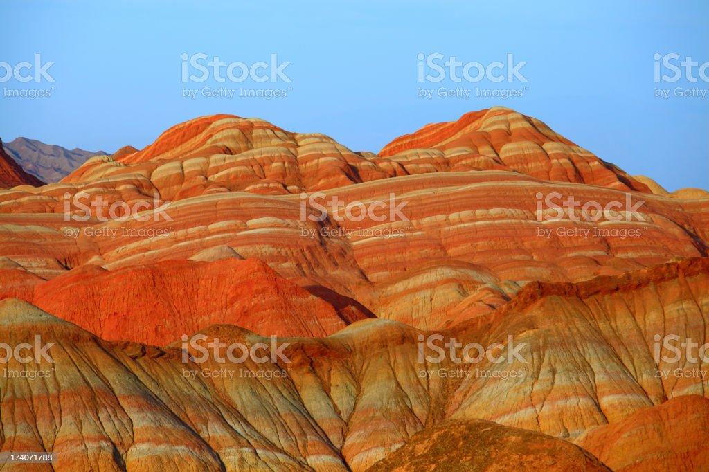 Danxia landform in Zhangye stock photo