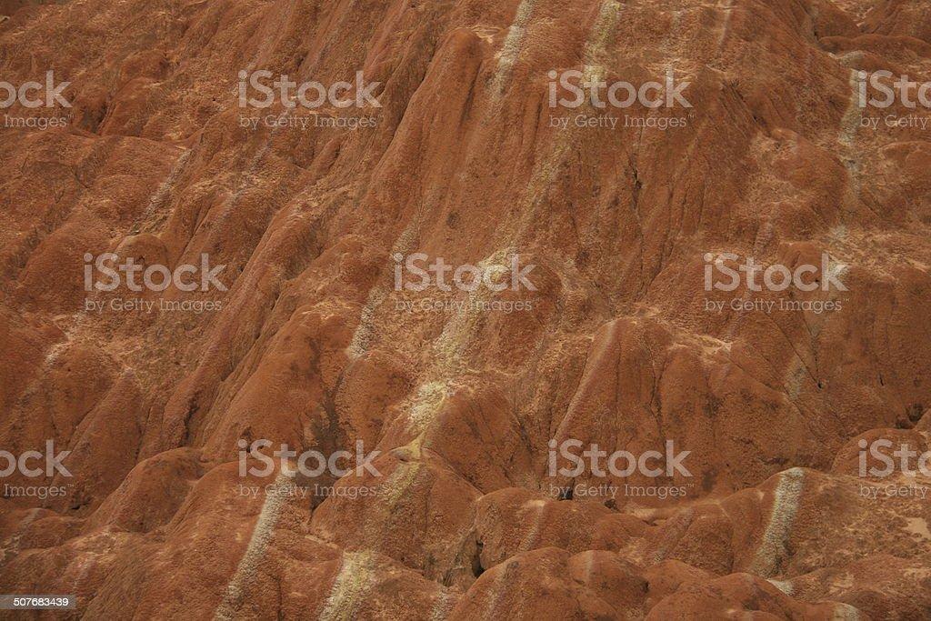 Danxia landforms background stock photo