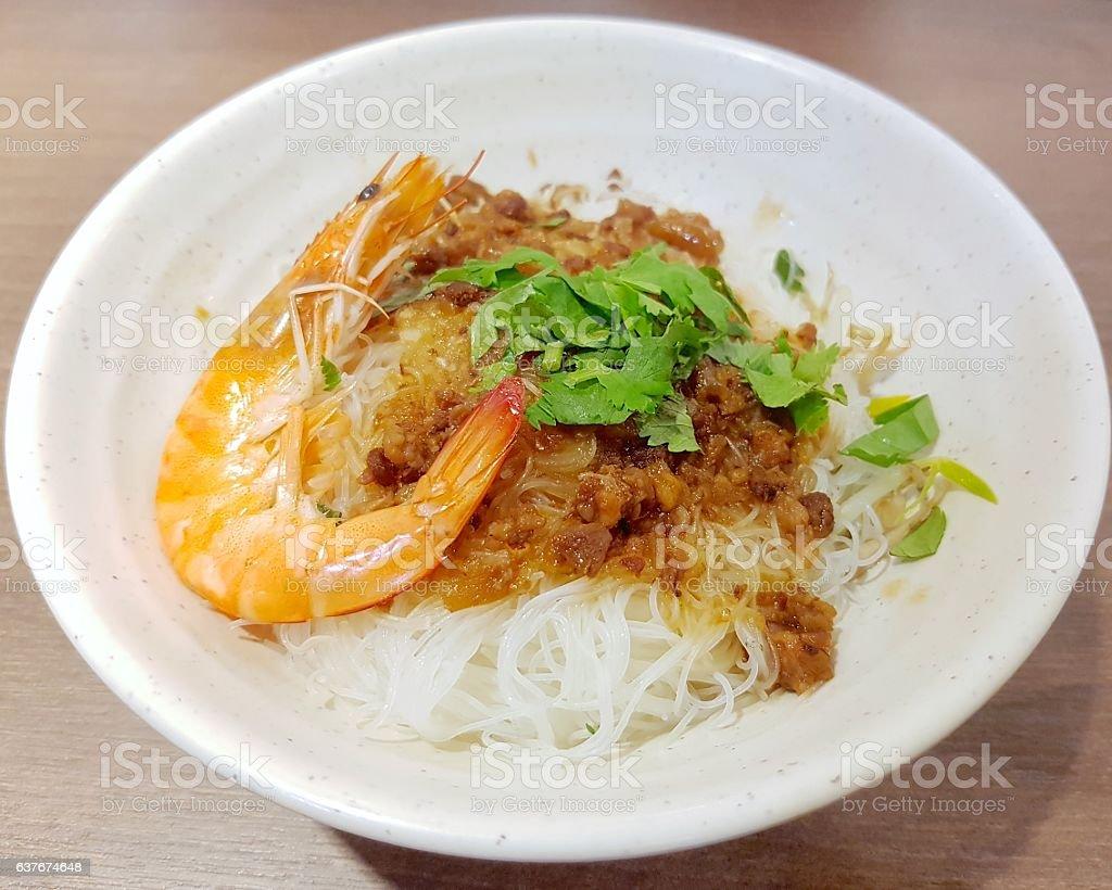 Danzai rice noodles stock photo