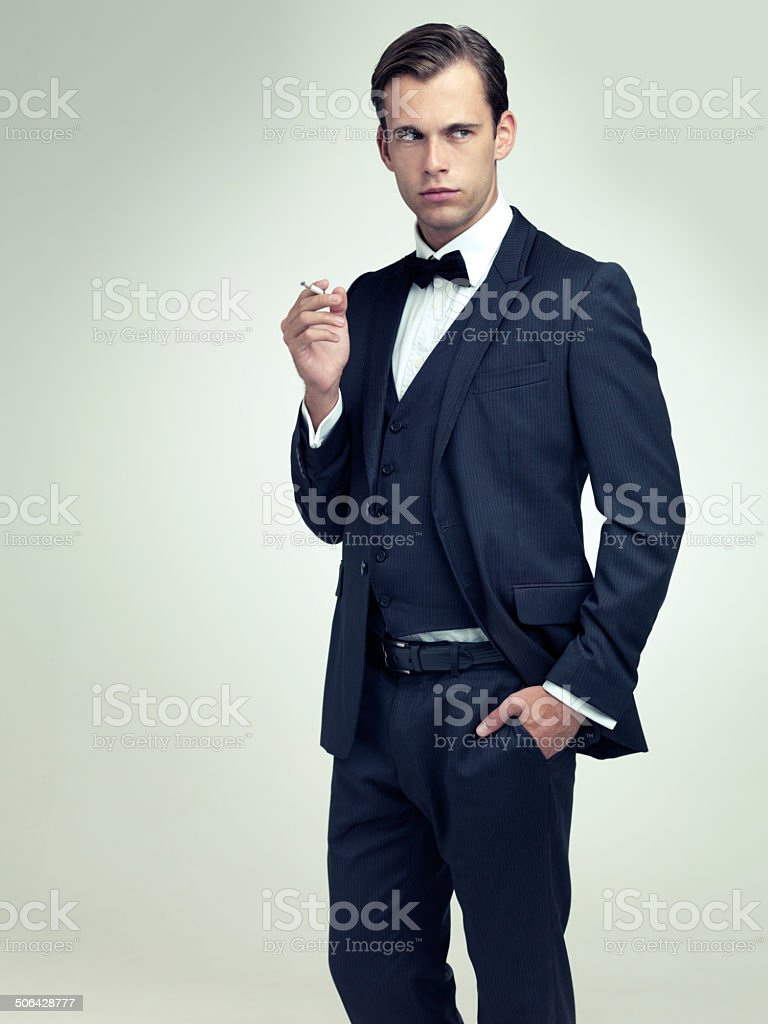 Dapper is a state of mind royalty-free stock photo
