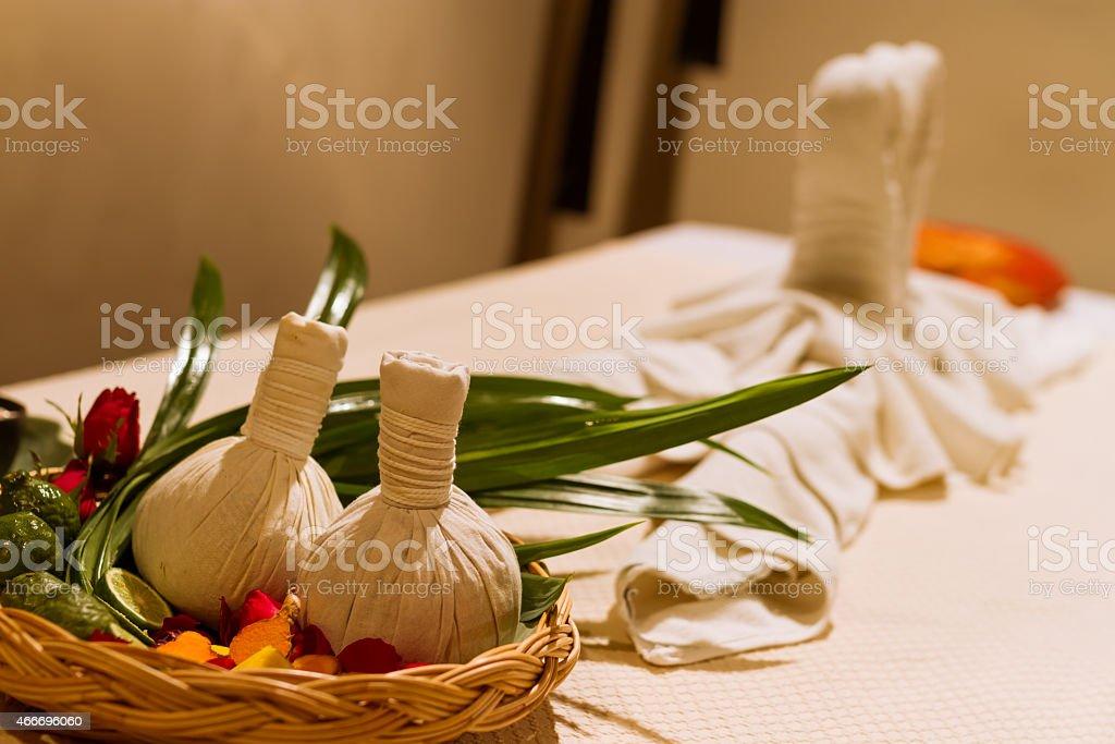 dapper set in spa stock photo