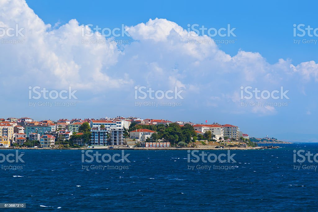 Dardanelles Channel at Turkey stock photo