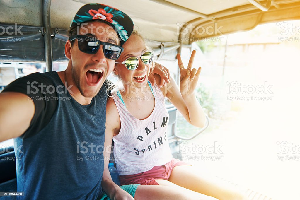 Dare to be adventurous stock photo