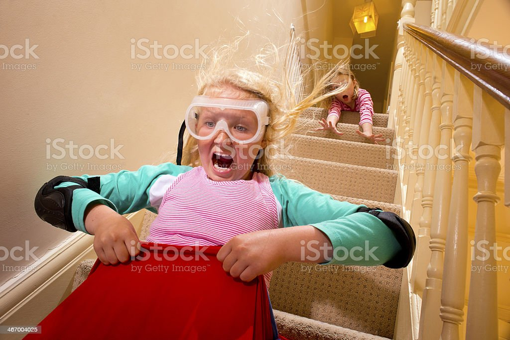 daredevil child stock photo