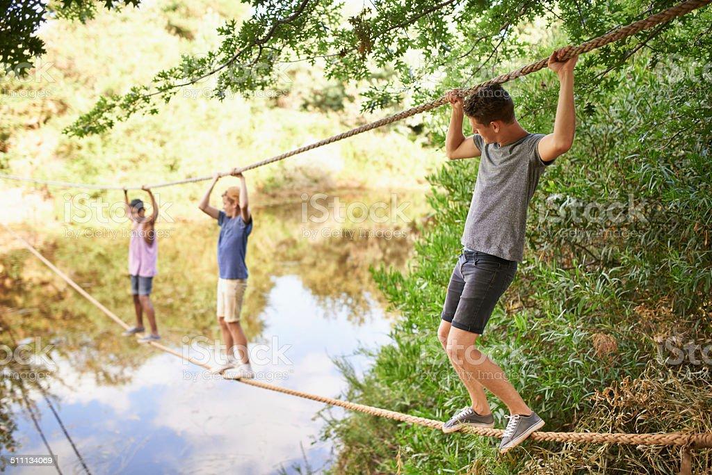 Daring adventurers stock photo