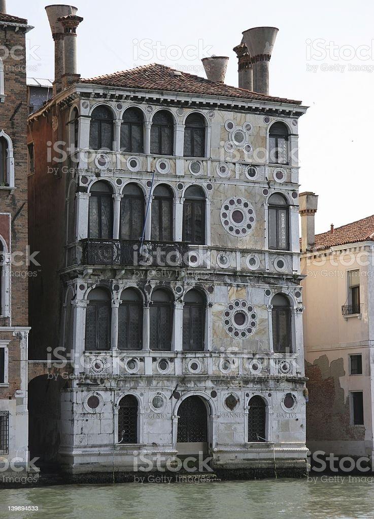 Palazzo Dario in Venice stock photo