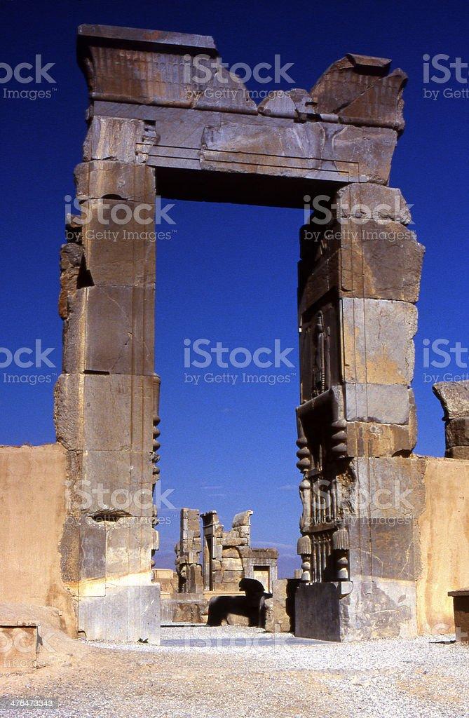 Darius the Great front door stock photo