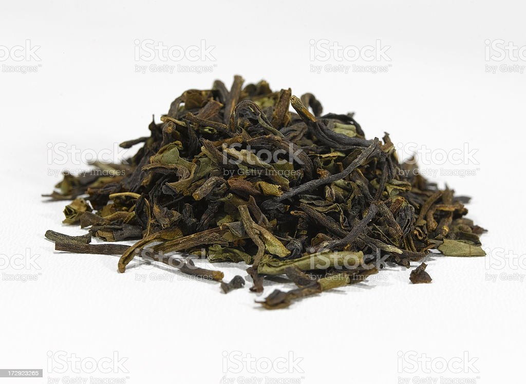 darjeeling 1st flush tea leaves royalty-free stock photo