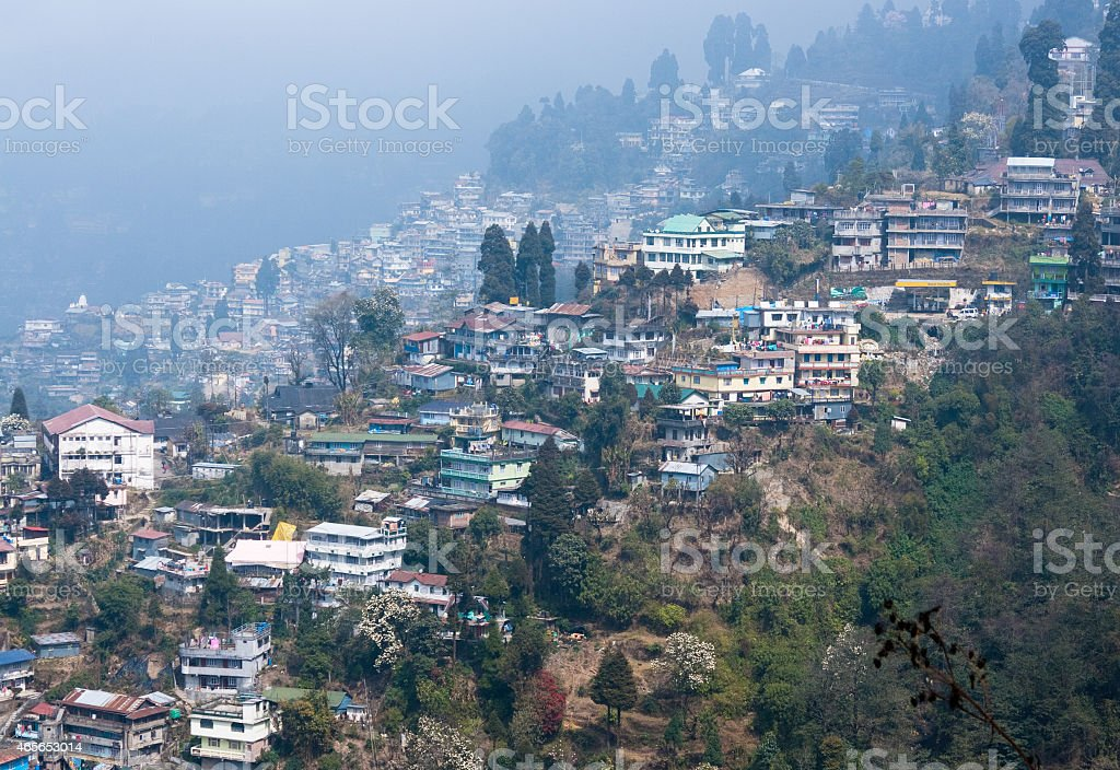Darjeeling City View stock photo
