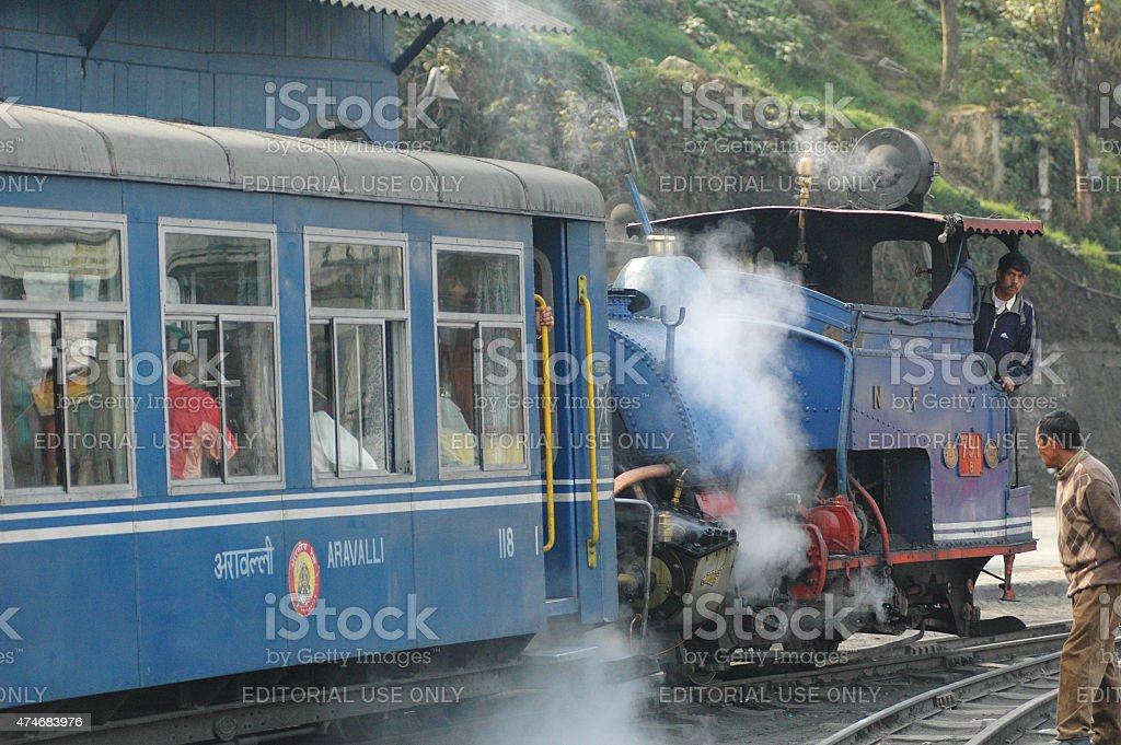 Darjeeling express train. Himalayan Railway. Toy Train. stock photo