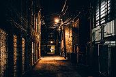 Dark alley. Bucktown, Chicago.