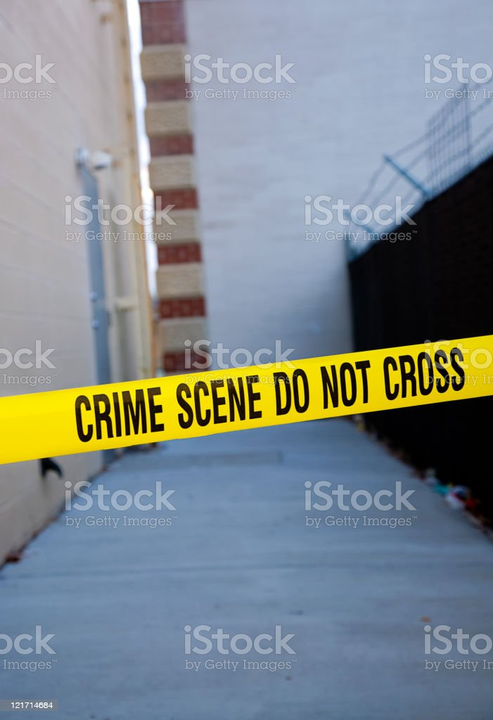 Dark Alley Crime Scene royalty-free stock photo