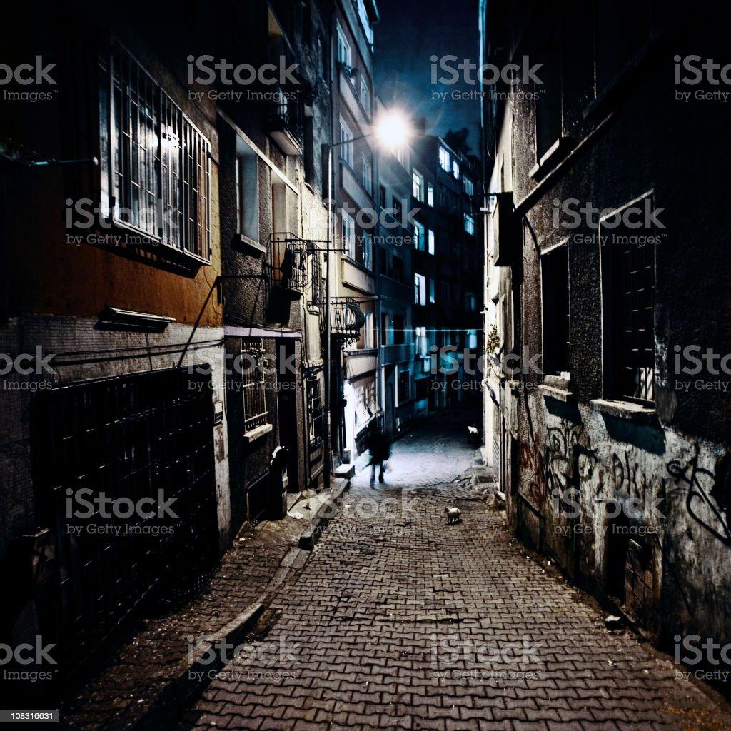 Dark Alley. stock photo