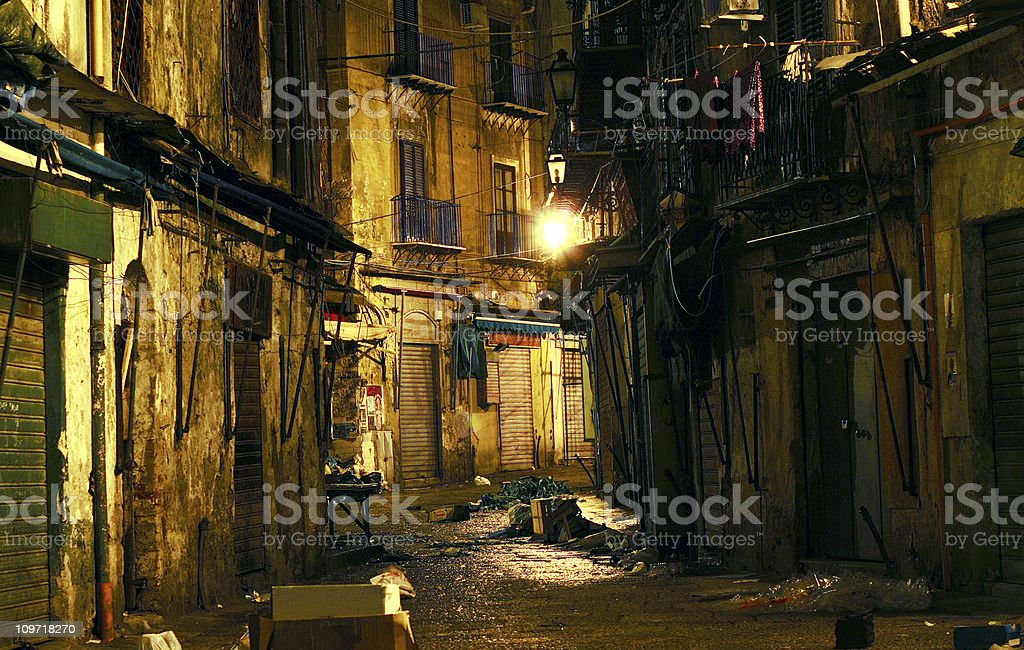 dark alley royalty-free stock photo