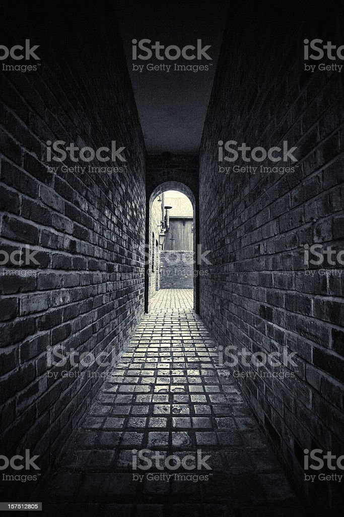 Dark Alley royalty-free stock photo
