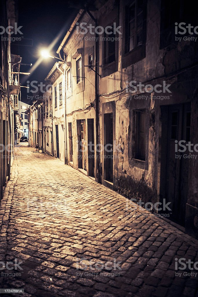Dark alley. royalty-free stock photo