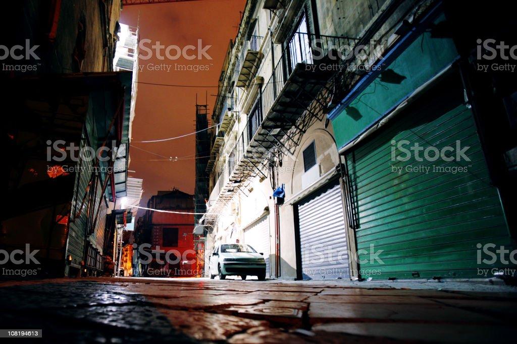Dark Alleyway at Night royalty-free stock photo