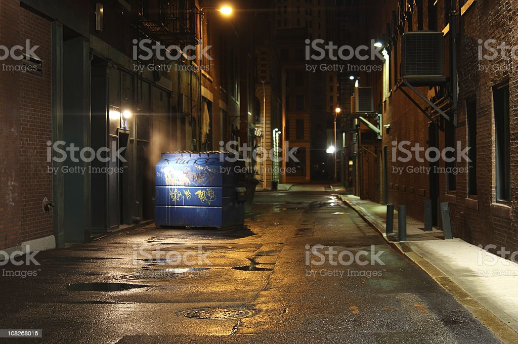 Dark Alleyway stock photo