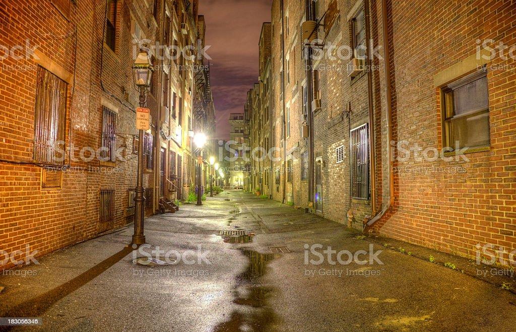 Dark Alleyway royalty-free stock photo