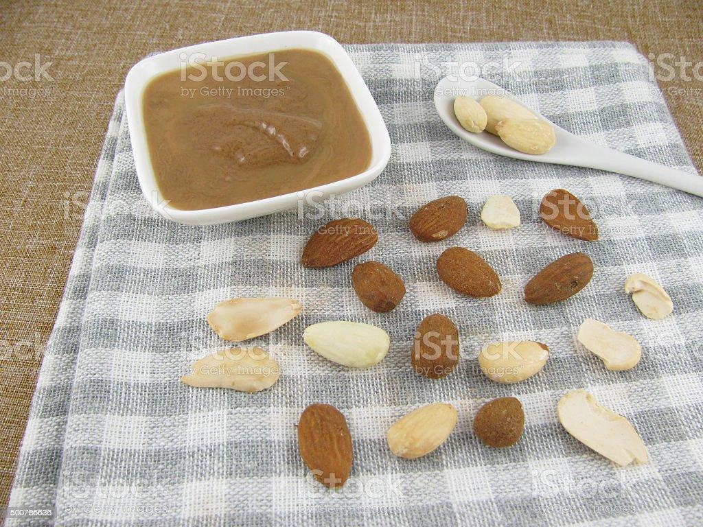 Dark almond mus stock photo