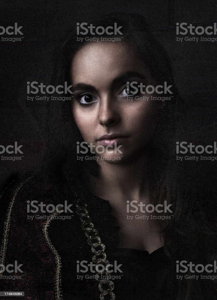 Dark and Beautiful Young Woman stock photo