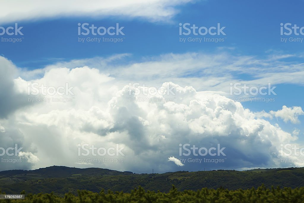 Dark and Dramatic Storm Clouds royalty-free stock photo