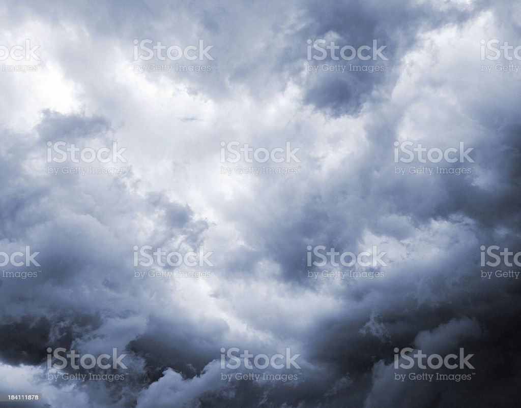 Dark and Dramatic Storm Clouds stock photo