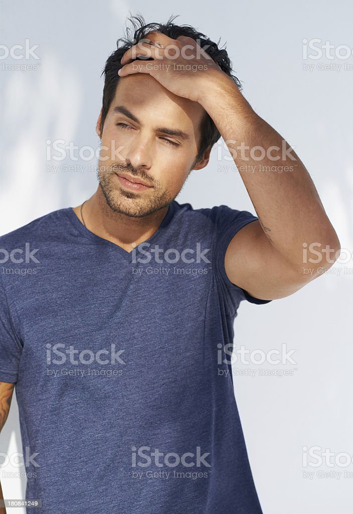 Dark and handsome royalty-free stock photo