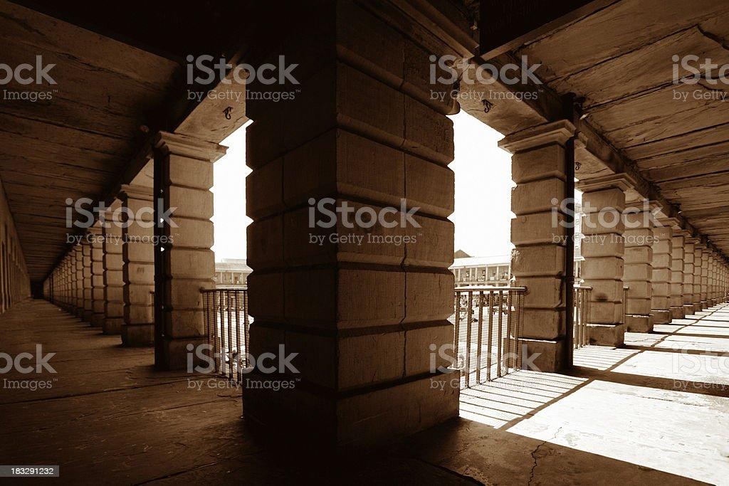 Dark and light corridors royalty-free stock photo