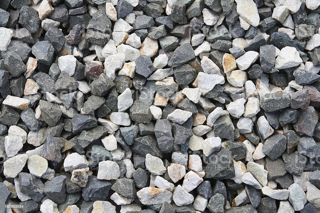 Dark and light  gravel as background stock photo