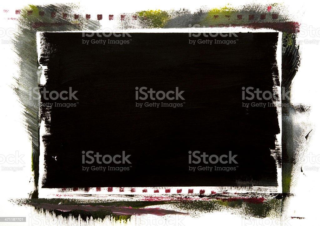 Dark art stain on white royalty-free stock photo