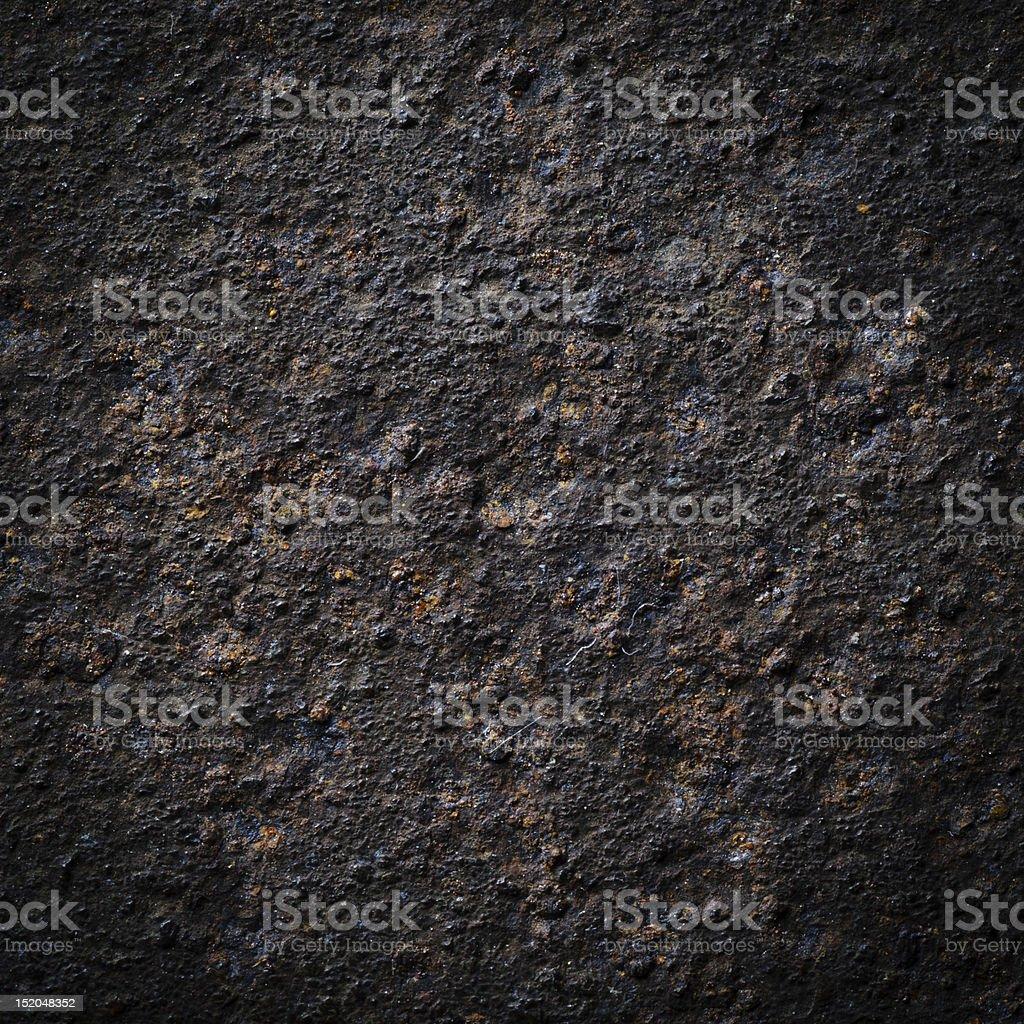 Dark background with uneven rust texture stock photo