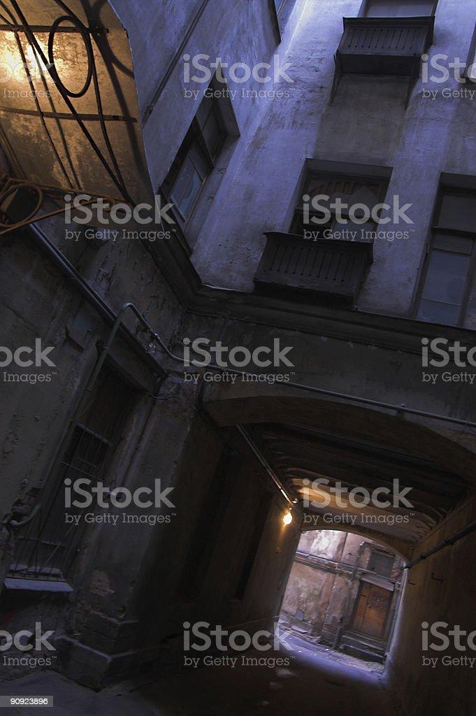 Dark Backyard royalty-free stock photo