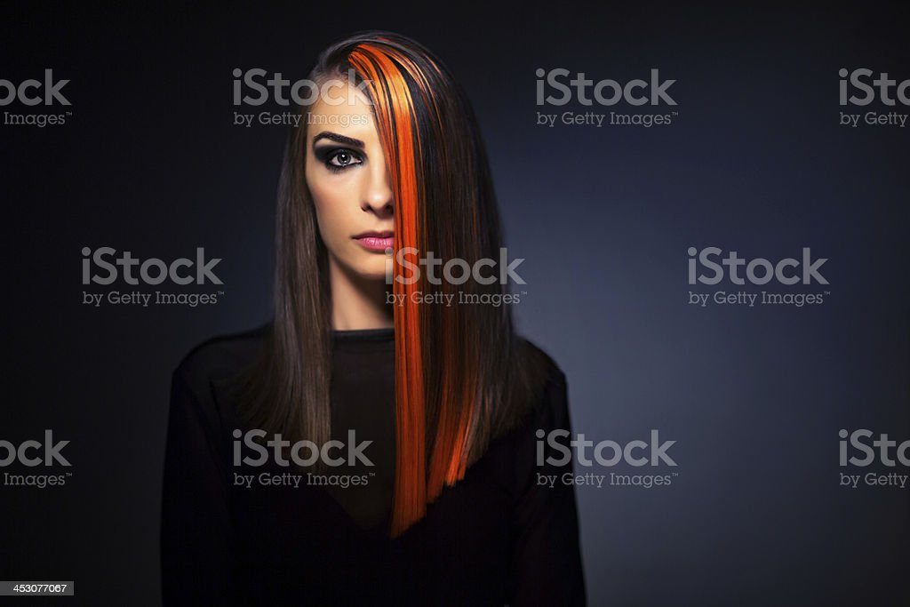 Dark beauty stock photo