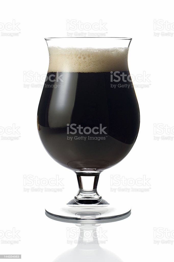 Dark beer stock photo