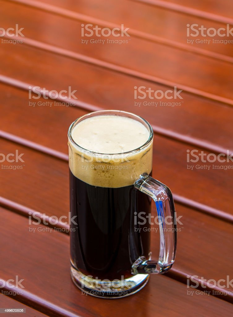 dark beer table stock photo
