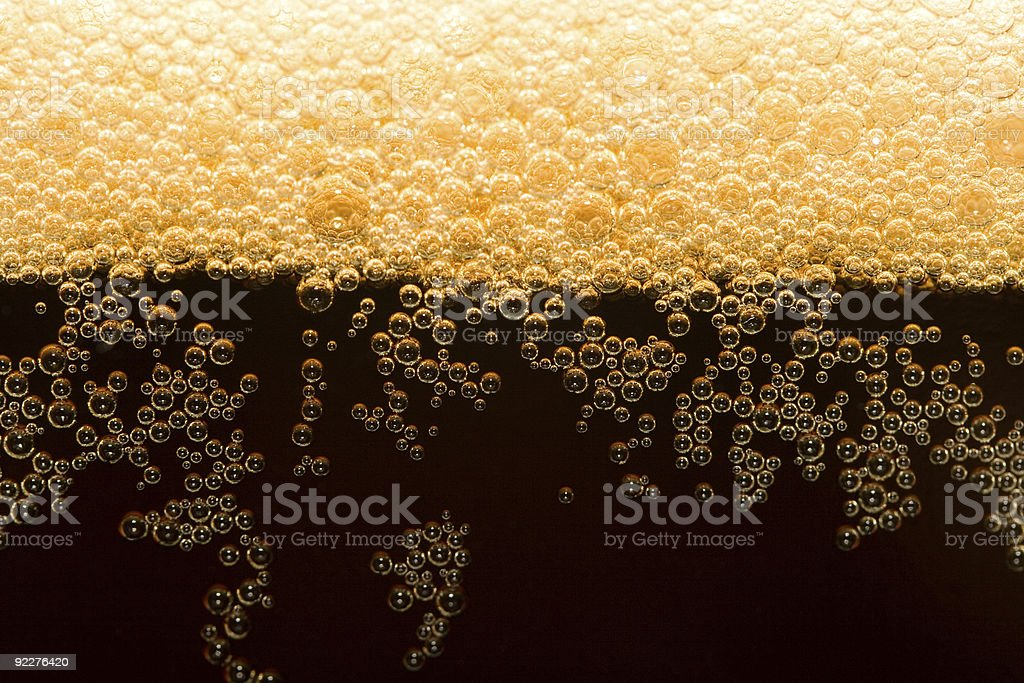 dark beer with foam royalty-free stock photo