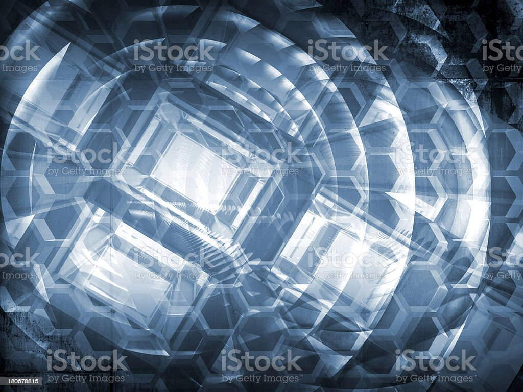 Dark blue abstract hi-tech concept 3d background illustration royalty-free stock photo