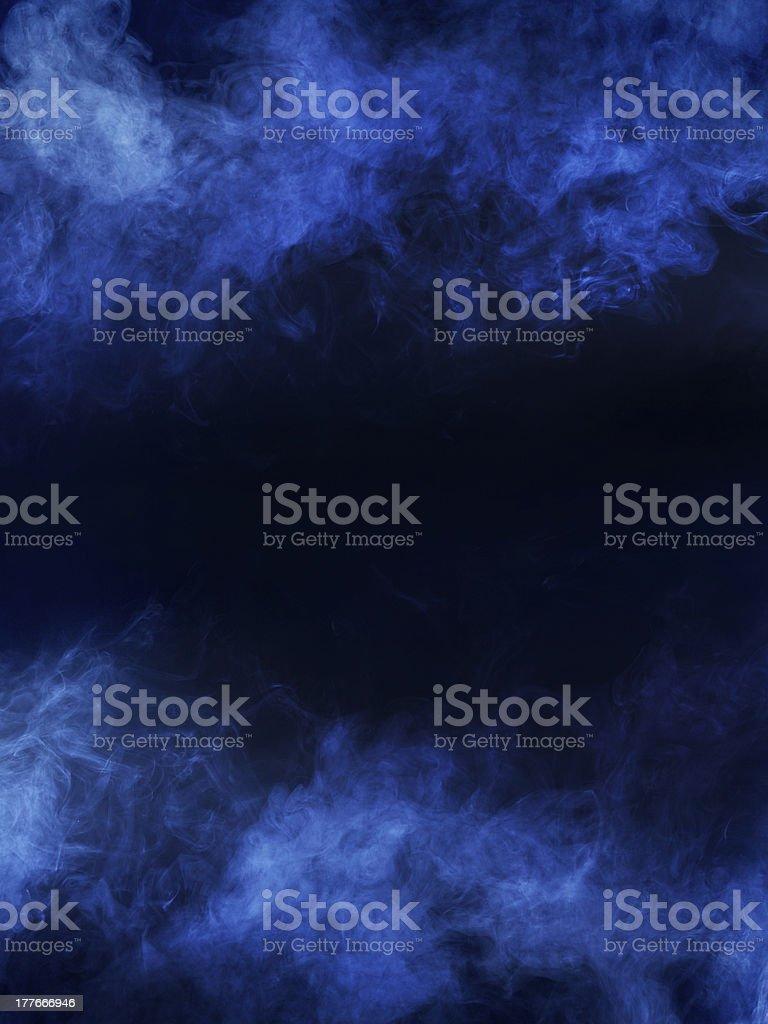 A dark blue and black fog border for artist work stock photo