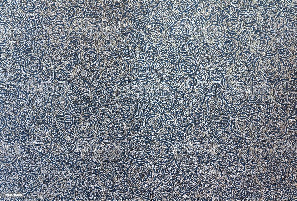 Dark blue Chinese pattern background royalty-free stock photo