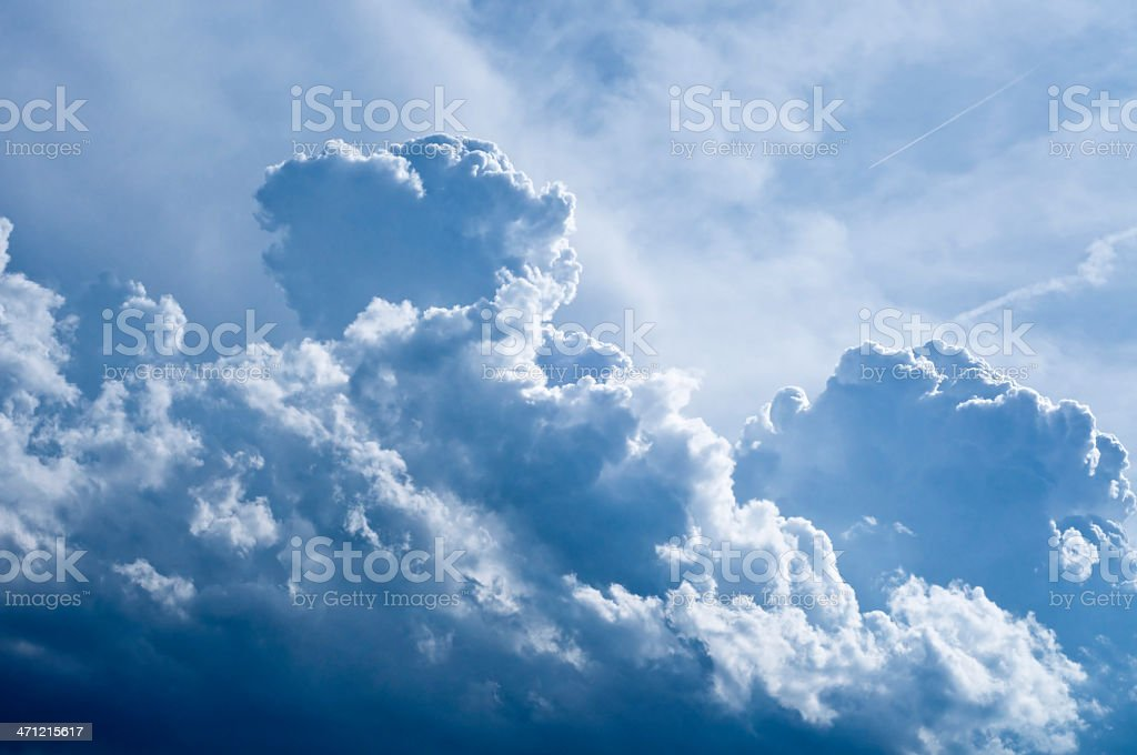 Dark blue clouds royalty-free stock photo