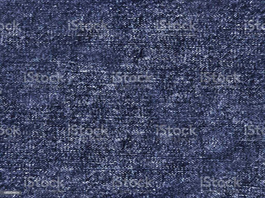 Dark Blue Denim Jeans Style Fabric Material Abstract Textured Background stock photo