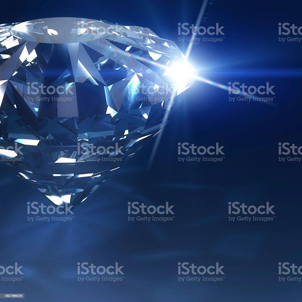 Dark Blue Diamond stock photo